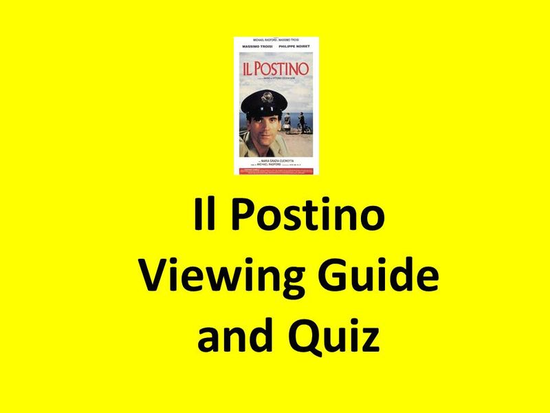 Il Postino viewing guide and quiz