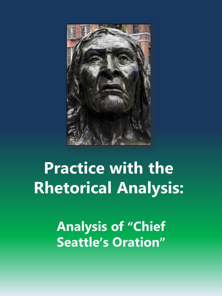 chief seattle essay Essay in his environmental statement, chief seattle describes the vastly different way his people see nature from the way that the white men see it he warns that the white men attempting to buy the land his people live on do not know the importance of what they ask for.