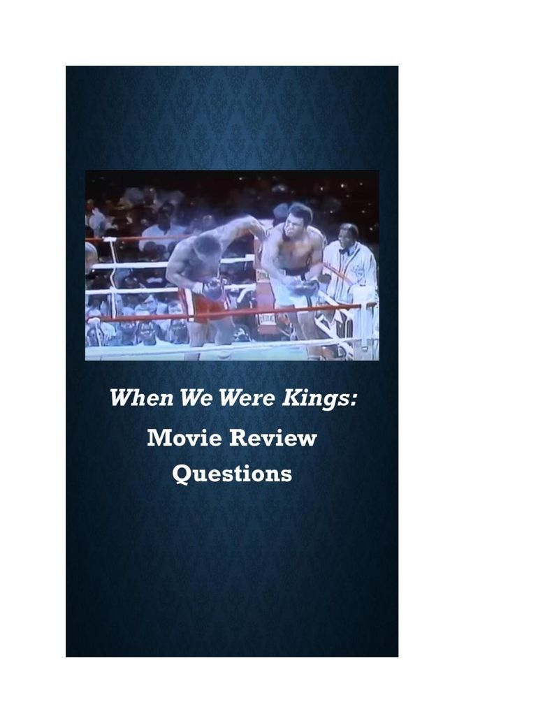 When We Were Kings Movie Guide-page-001